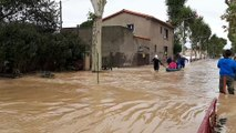 Trèbes, lundi 15 octobre, victime des inondations