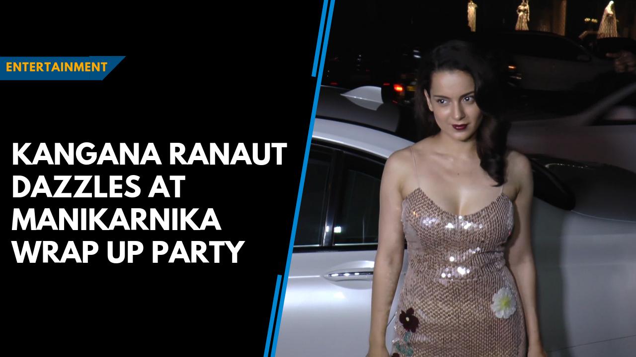 Kangana Ranaut dazzles at Manikarnika wrap up party