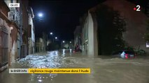 EN DIRECT - Aude : L'alerte rouge est maintenue ce mardi pour des risques de crues et d'inondations - Les habitants commencent ce matin à panser leurs plaies - Les images de la nuit