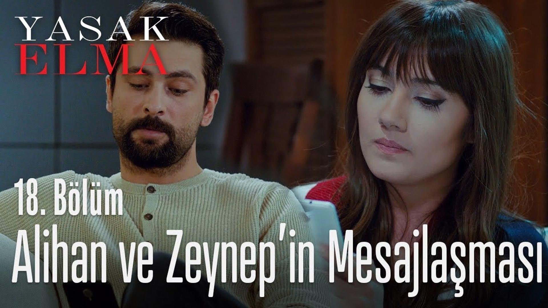 Zeynep ve Alihan'ın mesajlaşması - Yasak Elma 18. Bölüm