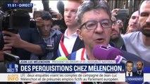 """Perquisitions chez LFI et au Parti de gauche: Mélenchon dénonce """"une énorme opération de police politique"""""""