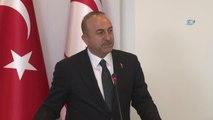 Dışişleri Bakanı Çavuşoğlu, KKTC Dışişleri Bakanı ile Ortak Basın Toplantısı Düzenledi