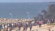 Διαδήλωση Παλαιστινίων σε παραλία στη Λωρίδα της Γάζας
