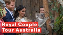 Prince Harry And Pregnant Wife Meghan Markle Meet A Koala At Australian Zoo