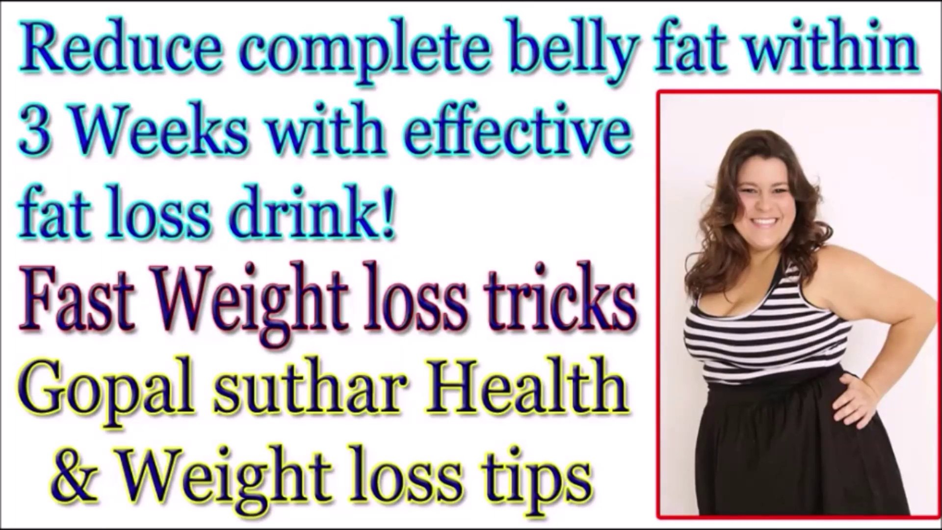 How to lose complete BELLY FAT within 3 Weeks with effective home-made FAT LOSS DRINK || 3 WEEKS bel