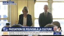 """Passation de pouvoir à la Culture: Françoise Nyssen se dit """"heureuse et fière du travail accompli"""""""
