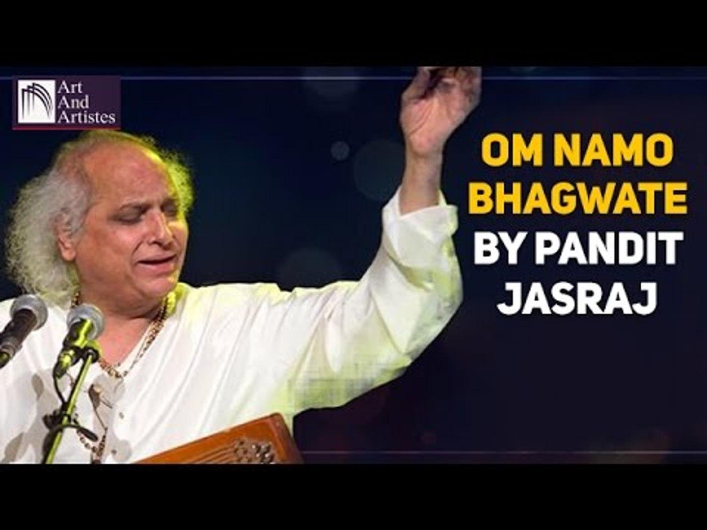 pandit jasraj bhajan om namo bhagwate vasudevaya