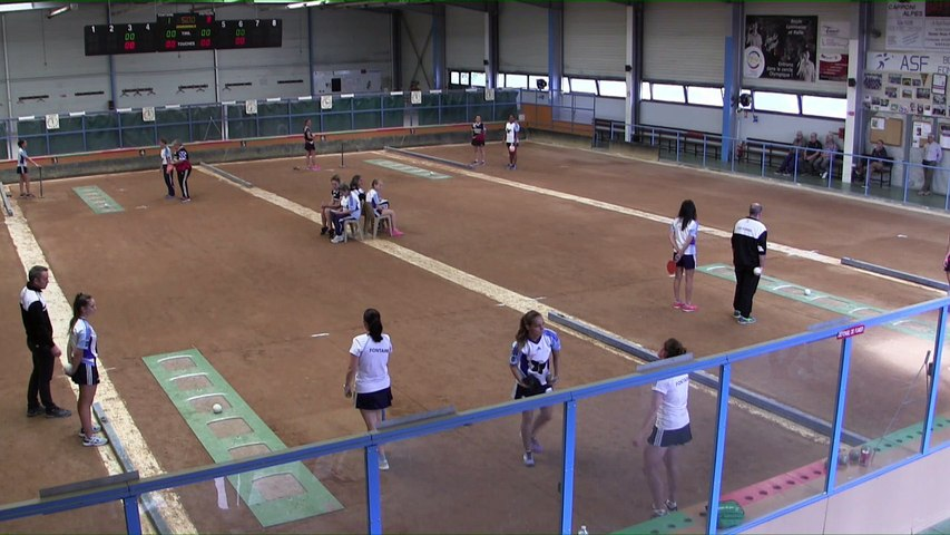 Premier tour, tir rapide double, France Club Elite 1 F, J1, Fontaine contre Romans, saison 2018/2019