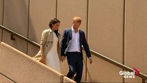 The duke and duchess of Sussex Meghan at Sydney Opera House -  duke and duchess of sussex latest news