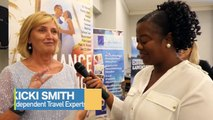 Gracita Allert, Assistant Director of Tourism Uk/Europe for the St. Vincent and the Grenadines Tourism Authority, speaks with Kicki Smith of Independent Travel