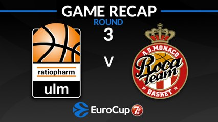 7Days EuroCup Highlights Regular Season, Round 3: Ulm 65-75 Monaco