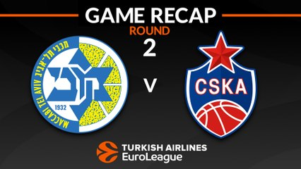 EuroLeague 2018-19 Highlights Regular Season Round 2 video: Maccabi 86-89 CSKA