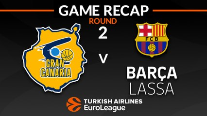 EuroLeague 2018-19 Highlights Regular Season Round 2 video: Gran Canaria 87-86 Barcelona