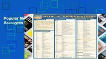 Popular Medical Abbreviations   Acronyms (Quickstudy: Academic)