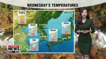 Colder air to move in, regions in the east to have rain _ 101718