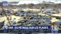 Des plages souillées par le pétrole dans le golf de Saint-Tropez