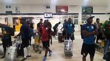 The Zambia National team have arrived in Guinea Bissau ahead of the Cameroon 2019 Africa Cup of Nations return leg against Guinea Bissau. The team touched dow
