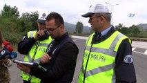 Karadeniz sahil yolu'nda 'drone' ile trafik denetimi