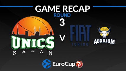 7Days EuroCup Highlights Regular Season, Round 3: UNICS 92-78 Fiat Turin