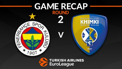 EuroLeague 2018-19 Highlights Regular Season Round 2 video: Fenerbahce 93-85 Khimki