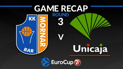 7Days EuroCup Highlights Regular Season, Round 3: Mornar Bar 85-96 Unicaja