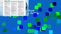Best product  Microsoft Excel 2016 Tables, PivotTables, Sorting, Filtering   Inquire Quick