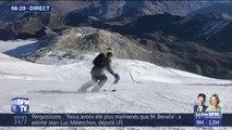 La neige est arrivée à Tignes, il est déjà possible de skier sur le glacier de la Grande Motte