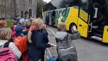 Les conseils de la FBCO pour monter dans un car scolaire de manière sécurisée (à l'école communale de Bosson)