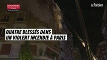 Violent incendie dans un immeuble à Paris : quatre personnes blessées