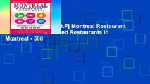 D.O.W.N.L.O.A.D [P.D.F] Montreal Restaurant Guide 2017: Best Rated Restaurants in Montreal - 500