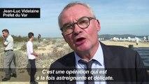 Pollution dans le Var: nettoyage de la plage de Pampelonne