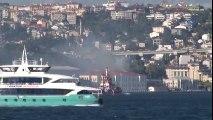 Beşiktaş Kabataş Erkek Lisesinin Yanında Korkutan Yangın