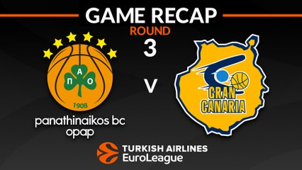 EuroLeague 2018-19 Highlights Regular Season Round 3 video: Panathinaikos 102-87 Gran Canaria