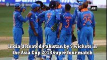 very latest sports news !!Asia Cup 2018,_ India beats Pakistan by 9 wickets - #Daily Sports