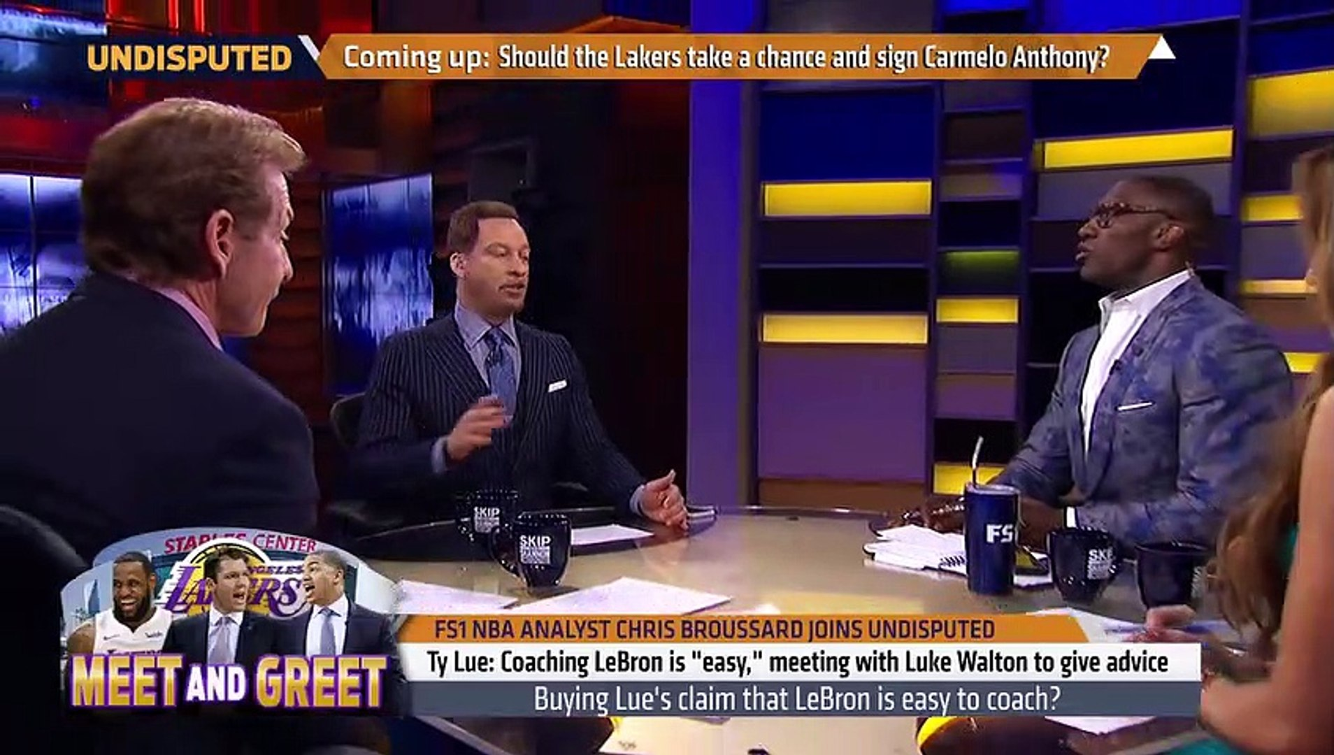Chris Broussard on Ty Lue giving advice to Luke Walton on coaching LeBron   NBA   UNDISPUTED (2), tv