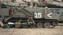 Des chars israéliens stationnés près de la bande de Gaza