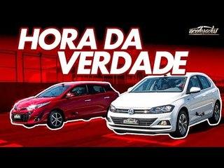 Volkswagen Polo TSI x Toyota Yaris! Qual é o melhor na pista? - Especial #220   Acelerados