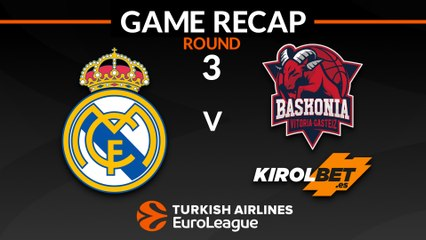 EuroLeague 2018-19 Highlights Regular Season Round 3 video: Madrid 97-79 Baskonia