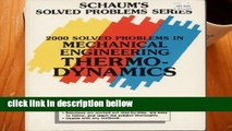 Best product  Schaum s Three Thousand Solved Problems in Mechanical Engineering Thermodynamics