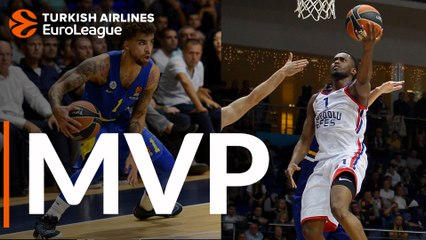 Round 3 co-MVPs: Scottie Wilbekin, Maccabi and Rodrigue Beaubois, Efes
