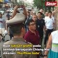 Polis Thailand tahan pelancong didakwa cemari tembok bersejarah