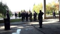 """- Bakan Çavuşoğlu Kosova'da Sultan Murat Kışlası'nı ziyaret etti- Dışişleri Bakanı Mevlüt Çavuşoğlu:- """"Türkiye Cumhuriyeti olarak 'yurtta barış dünyada barış' anlayışıyla dünyaya barış ve adaleti götürmeye çalışıyoruz"""""""