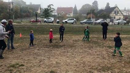 Même les parents ont participé au jeux ce matin chez les débutants :)
