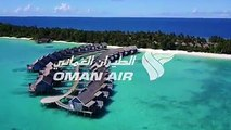 Fly direct, seven times a week to Maldives starting 1st November with Oman Air.  Stroll along pristine white sandy beaches, dive crystal clear waters and witnes