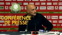 Conférence de presse AC Ajaccio - Havre AC (3-2) : Olivier PANTALONI (ACA) - Oswald TANCHOT (HAC) - 2018/2019