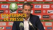 Conférence de presse AS Nancy Lorraine - Grenoble Foot 38 (1-2) : Didier THOLOT (ASNL) - Philippe  HINSCHBERGER (GF38) - 2018/2019