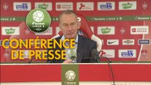 Conférence de presse Stade Brestois 29 - FC Lorient (3-2) : Jean-Marc FURLAN (BREST) - Mickaël LANDREAU (FCL) - 2018/2019