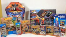 Hot Wheels Toy Haul AI Track Builder Starter Stunt Kit Lift Launcher Sky Shock || Keith's Toy Box