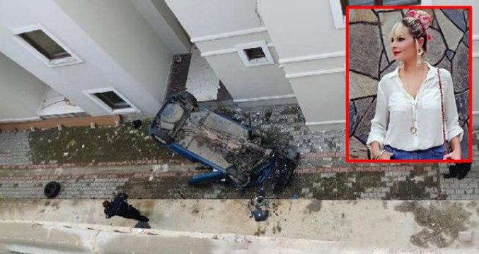 Akılalmaz Kaza! Büşra Öğretmen Otomobiliyle 15 Metreden Apartman Boşluğuna Uçtu