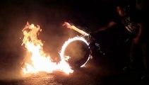 Gros Burn-Out en Moto